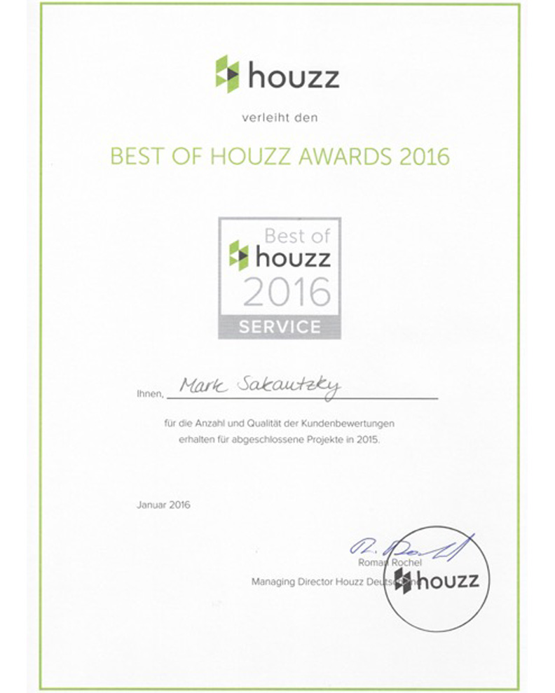 houzz Award 2016
