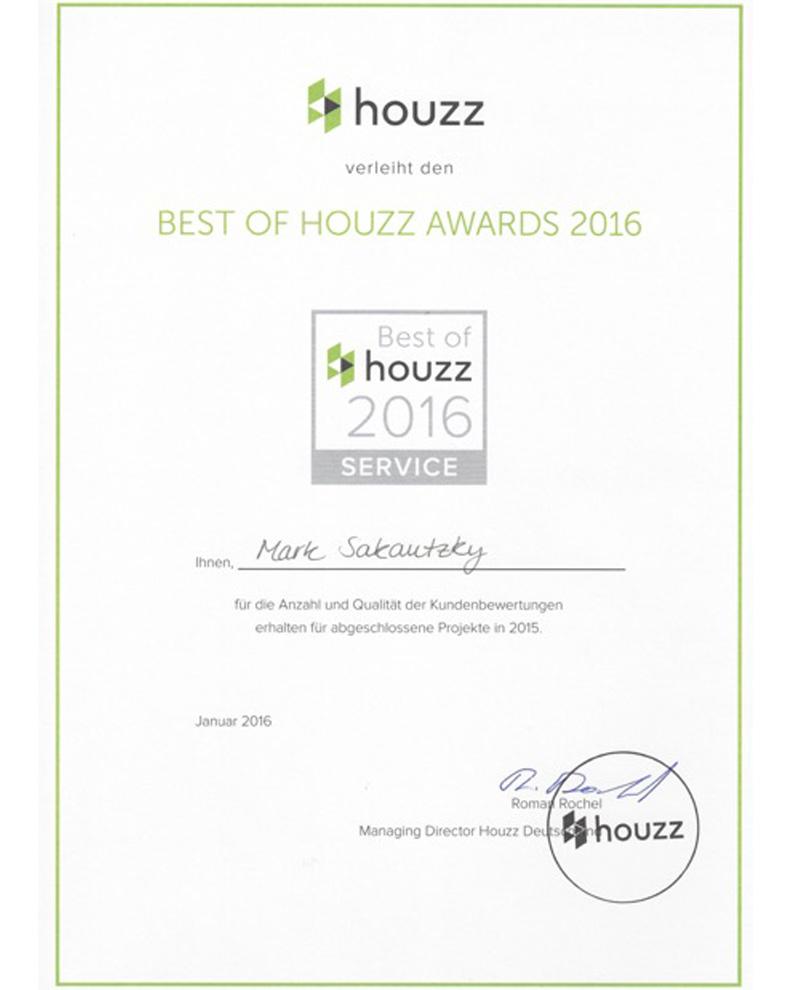houzz Award 2016