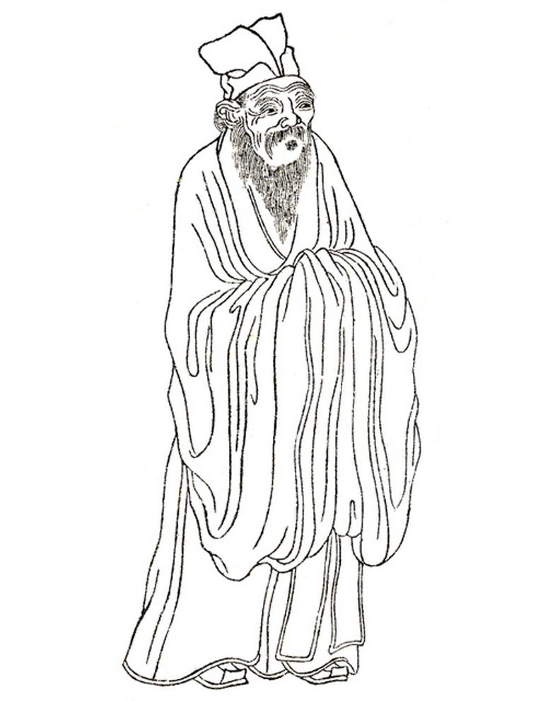 Grand Master Shao Yong, Begründer der 64 Hexagrammlehre, die 64 Richtungen nach dem binären Code